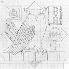 The design drawing for the 1996 Form plaque.