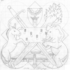 The design drawing for the 2001 Form plaque.