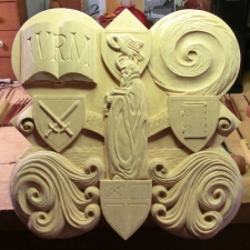 The finished carving for the 2006 plaque.