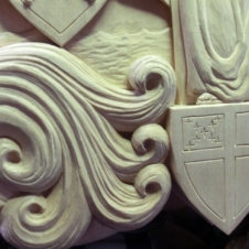 Detial of the finished carving.