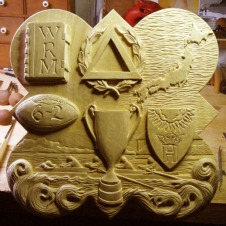 The completed carving for the 2011 plaque.