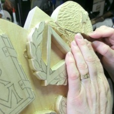 Carving in the details.