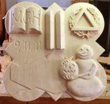 The finished carving for the 2012 plaque.