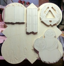 Background is routered out to begin the carving process.