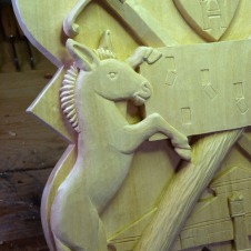 Detail of the donkey.