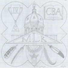 Design drawing of the 1998 Form plaque.