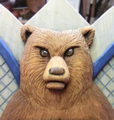 The grumpy bear with painted finish.