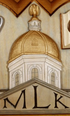 Detail of the NH State House dome with painted finish.