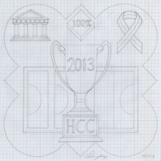 The design template for the 2013 plaque.