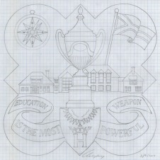 The design template for the 1994 plaque.