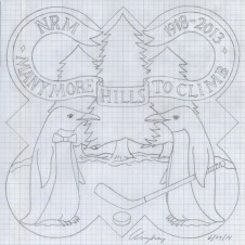 The design drawing for the 2014 plaque.
