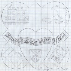 The design drawing for the 2010 plaque.