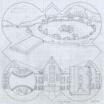 The design drawing for the 2005 plaque.