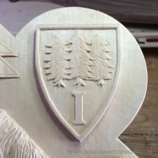 A detail of the Isthmian shield.