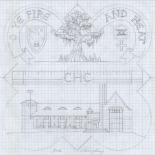 The design drawing for the 1991 plaque.