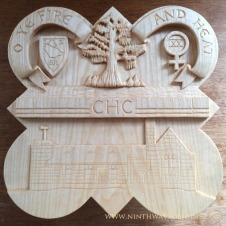 The completed carving of the 1991 plaque.