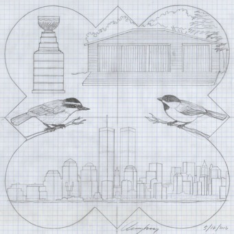 The designs drawing for the 2002 Form Plaque.