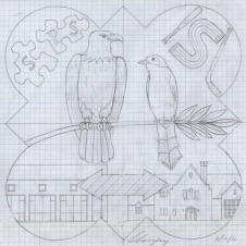 The design drawing for the 2016 Form Plaque.