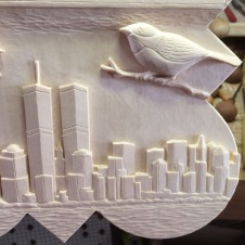 Manhattan skyline and Chick-a-Dee.