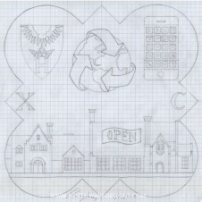 The design drawing for the 2007 Form Plaque.